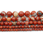 Natural Red River Jasper Gemstone Round Loose Beads 16'' 4mm 6mm 8mm 10mm 12mm