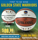 THE GOLDEN STATE WARRIORS FASTEST TEAM TO WIN 50 GAMES IN NBA HISTORY BALL