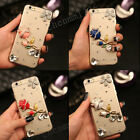 Bling 4 Color Diamonds Rose Ultra Soft Thin Clear Gel Case Cover For Huawei