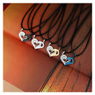 2Pcs Men Women Lover Couple Necklace I Love You Heart Shape Pendant Chain Jewel