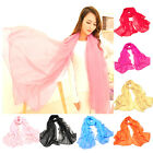 Women's Long Soft Summer Spring Chiffon Scarves Ladies Beach Scarf Fashion