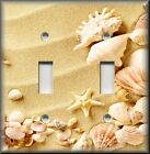 Beach Home Decor - Sand And Beach Shells - Light Switch Plate Cover