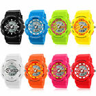 COLORFUL Young Fashion Women Men Digital Analog Date LED Silicone Sport Watch