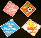 Baby Soccer Star Angel On Board Sign Suction Cup Vehicle Safety Car Sign