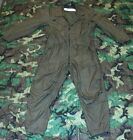 USGI Military OD CVC Fire Resistant Nomex OVERALLS FLIGHTSUIT Many Sizes NICE
