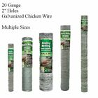 "Galvanized Poultry Net Metal Mesh Fencing Chicken Wire 2"" Holes Multiple Sizes"