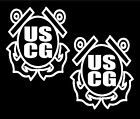 Two US Coast Guard Decals car truck vinyl military decal sticker graphics