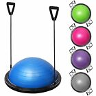"23"" Yoga Half Ball Balance Trainer Exercise Fitness Strength Gym Workout w/ Pump image"