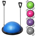 Exercise Fitness Yoga Balance Trainer Ball W/ Resistance Bands & Pump Blue Pink