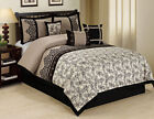 11 Piece Lupe Black/Taupe Bed in a Bag Set