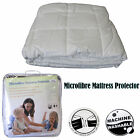 CLEARANCE Quality Cotton Cover Microfiber Mattress Protector - SINGLE or DOUBLE