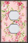 Metal Light Switch Plate Cover - Pink Roses Shabby Chic Home Decor Rose Floral