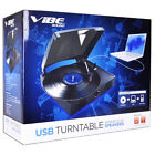 VIBE Sound VS-2002-SPK USB Turntable Vinyl Archiver Record Player w Speakers