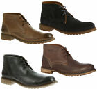 Mens Hush Puppies Benson Rigby Lace Up Leather Chukka Boots Sizes 6 to 12