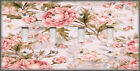 Shabby Chic Decor Metal Light Switch Plate Cover Pink Roses On Pink Rose Decor