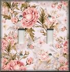 Floral Home Decor - Light Switch Plate Cover - Pink Roses On Pink - Rose