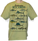 #0 SIZE-SALTWATER RECORDS BIG GAME FISH SPORTS FISHING GRAPHIC PRINTED T-SHIRT