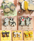 2pcs Cat Key Hat Bag Coat Wall Door Wooden Hanger Sticky Hooks for Baby Kid Room