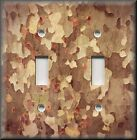 Metal Light Switch Plate Cover Tree Camo Camouflage Decor Light Brown Wood Decor