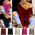Women's Fashion V Neck Casual Blouse Tops Long Sleeve Sweater Knitwear Cardigan
