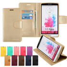 Flip Stand Leather Wallet Case Cover W/Silicone Case For LG G4 G5 G6 V20 V30 LOT