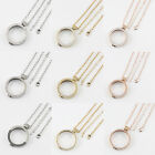 2016 DIY Rhinestone Stainless Steel Coin Holder Pendant with 80cm Chain Necklace