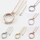 2016 2 PCS Sets Coin Locket Pendant with 80cm Chain Necklace for Women Jewelry