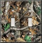 Metal Light Switch Plate Cover Tree Camo Camouflage Rustic Cabin Home Decor