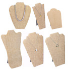 MODERN BURLAP NECKLACE DISPLAY NECKLACE EASELS JEWELRY TRAVELLING DISPLAY STAND