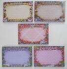 1x SUZY TORONTO 36 4 x 6 RECIPE CARDS cook book organizer your choice wacky wome