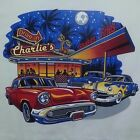 50'S CHARLIE'S DRIVE IN DINER T-SHIRT MUSCLE CAR S HOT ROD CRUISE NIGHT SHAKES