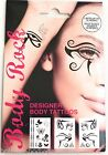 Body Rock - Temporary Festival Eye & Body Tattoo Stickers Transfers Eyeliner