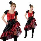 Ladies Western Can Can Saloon Girl Fancy Dress Moulin Rouge Costume UK 6-24