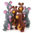 Lovely Gray Big Mouse Squeaky Latex Dog Toy Puppy Squeaker interactive Play