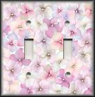 Light Switch Plate Cover - Pink Hydrangea Flowers - Floral Home Decor - Flower