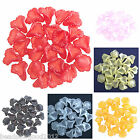 24 LUCITE ACRYLIC FROSTED TRUMPET LILY FLOWER BEADS 16mm ANGEL/FAIRY MAKING