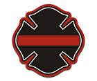 Firefighter Thin Red Line Maltese Cross Decal Fire Rescue Window Sticker EMA