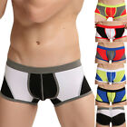 Men's Splicing Fashion Boxer Briefs Shorts Underwear Pouch Trunks Underpants New