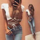 NEW Sexy Women Cut-Out Bra Crop Bustier Bralette Corset Tops Tank Top Strappy