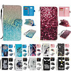 For Samsung Cool Design PU Leather Free Strap Kickstand Magentic Flip Case Cover