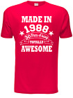 30th Birthday Present Born in 1986 Mens 30th Gift Mens T Shirt  Size S-XXL