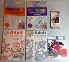A4 ADULT COLOURING BOOK Stress Relieving Advanced Modern Patterns Pencils Opt