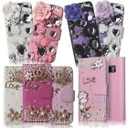 Cute Bling Crystal Rhinestone Diamond Luxury Leather Flip Case Wallet Cover
