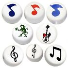 MUSIC THEMED CERAMIC BEADS MUSICAL NOTES ELECTRIC GUITAR CRAFT JEWELRY MAKING