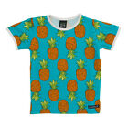BNWT Boys Girls Villervalla Blue Pineapple Short Sleeved T-shirt NEW Organic Top