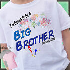 FIREWORKS BIG BROTHER SHIRT PERSONALIZED SHIRT PERSONALIZED MONTH AND YEAR