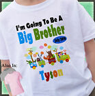 SAFARI ZOO ANIMAL TRAIN I'M GOING TO BE A BIG BROTHER SHIRT PERSONALIZED NAME