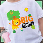 LION BIG BROTHER SHIRT PERSONALIZED NAME SAFARI ZOO ANIMAL