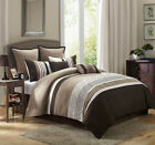 12 Piece Liberty Taupe/Coffee Bed in a Bag Set