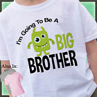 CUTE GREEN MONSTER I'M GOING TO BE A BIG BROTHER SHIRT PERSONALIZED TSHIRT
